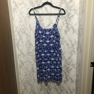 Old Navy XL Blue and White Printed Dress